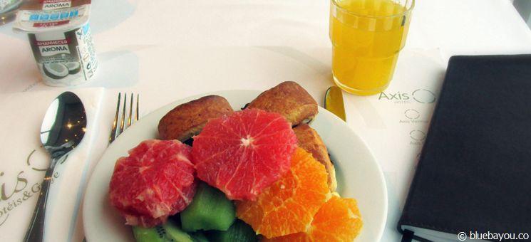 Frühstück auf dem Jakobsweg in einem 4-Sterne-Hotel.