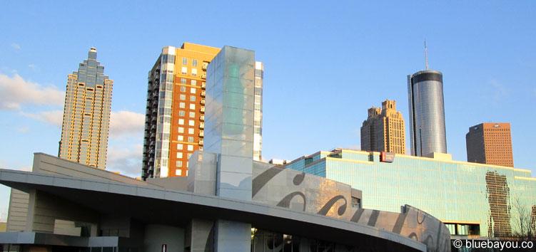 Atlanta, Georgia: Blick auf Downtown vom Coca Cola Museum aus.