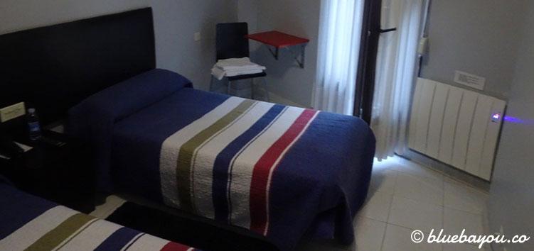 Mein Hotelzimmer in Castro-Urdiales entlang meines Jakobswegs.