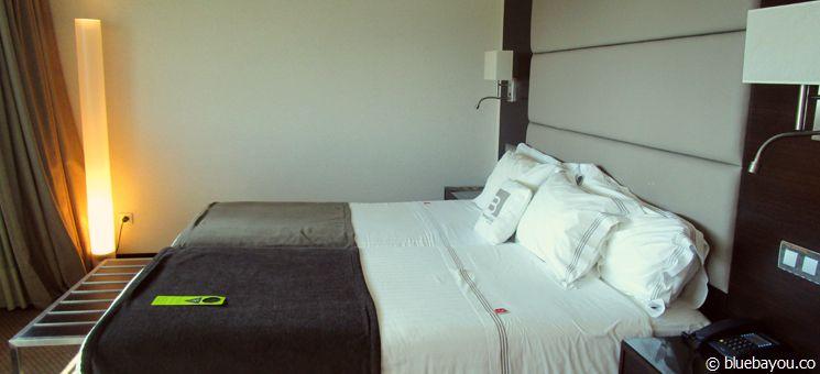 Eins der auf dem Jakobsweg bewohnten Hotelzimmer in einem 4-Sterne-Hotel.