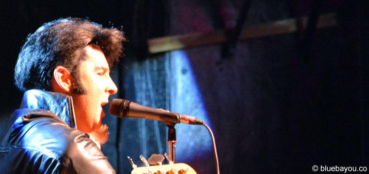 Jay Dupuis am zweiten Konzertabend der Elvis Week im New Daisy Theater in Memphis.