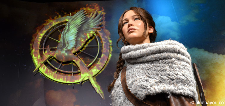 Jennifer Lawrence als Katniss Everdeen bei Madame Tussauds in London.
