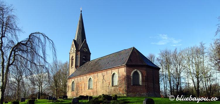 Die Kirche im Ort Welt in Schleswig-Holstein.
