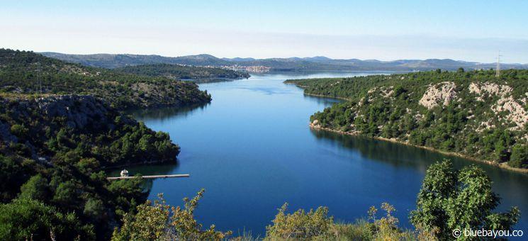 Ausblick von einer Raststätte in Kroatien.