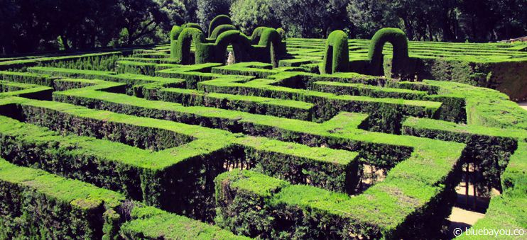 Das Labyrinth im Parc del Laberint d'Horta in Barcelona.