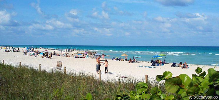 Der schmale Miami North Beach mit weniger Touristen als South Beach.