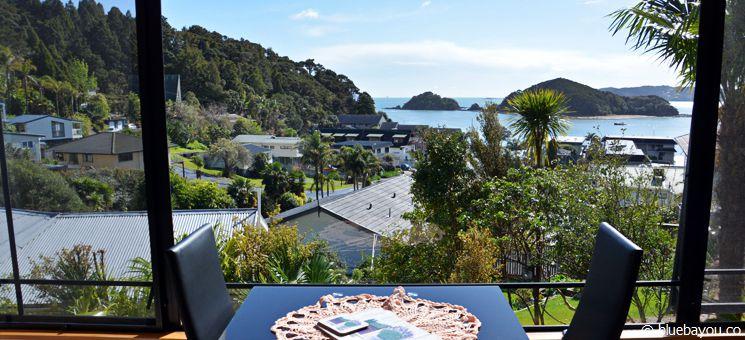 Blick aus der Suite der Abri Apartments in Paihia, Neuseeland