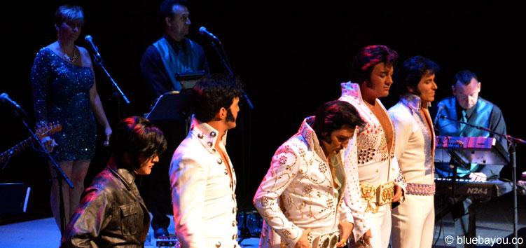 Die Top 5 Finalisten des Ultimative Elvis Tribute Artist Contest 2015.