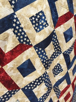 Sparklers on Liberty Square Quilt closeup