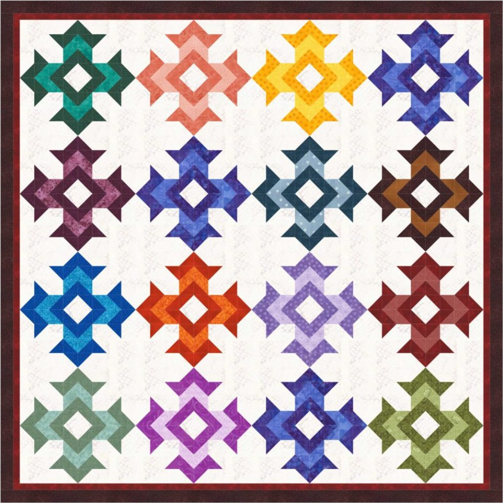 God's Eye Scrappy Quilt