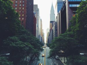 A street in NYC, where you will move with the help of movers NJ to NYC.