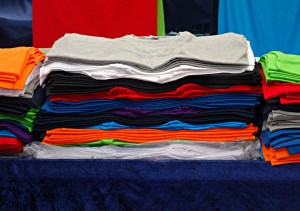 Pile of shirts,