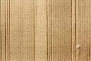 Close up image of a brown cardboard box