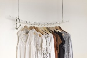 A couple of dresses on hangers