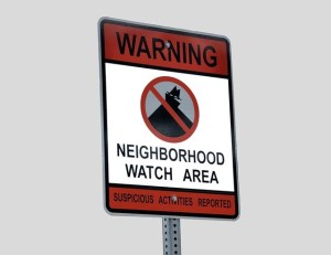 a watch group sign that tells you you live in a safe neighborhood