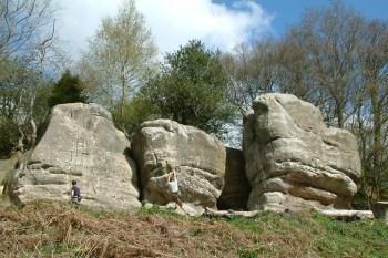Climbers at Stone Hill Rocks