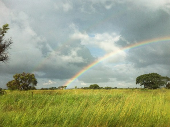 Rainbow on the way to grandma's house.