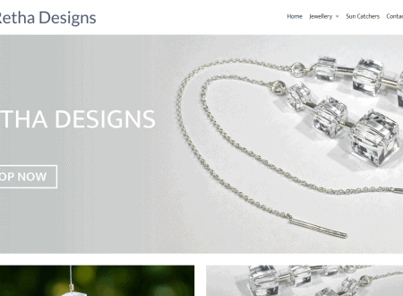 Retha Designs New e-Commerce website
