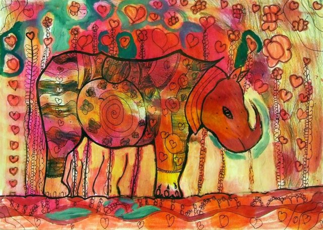 a rhinoceros in love