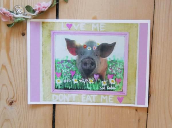 Love me don't eat me Postkarte