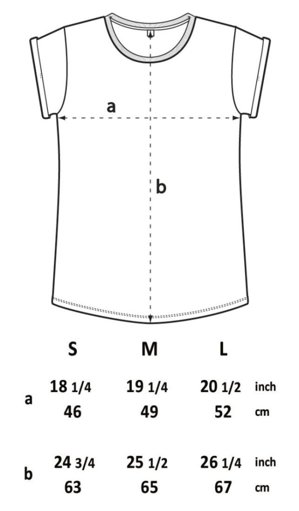 Measurements t-shirt