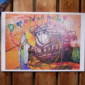 drop acod not bombs by joshua parksteinhoff postcard