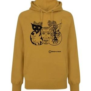 Mango yellow sugar skull hoodie