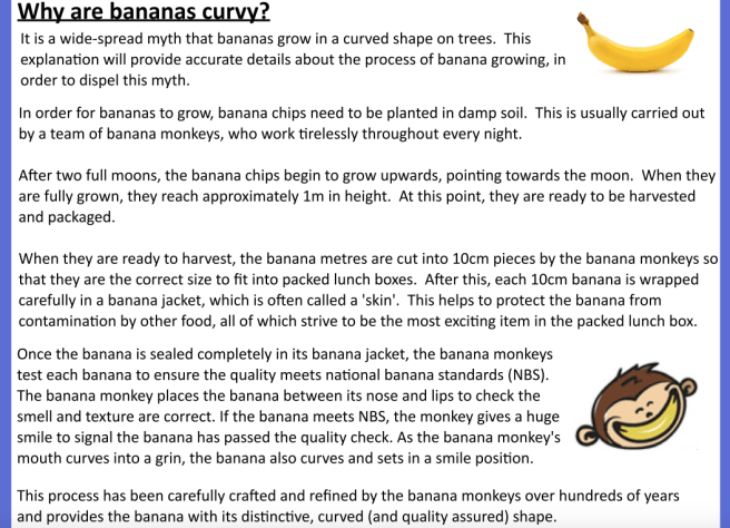 Why are bananas curvy?