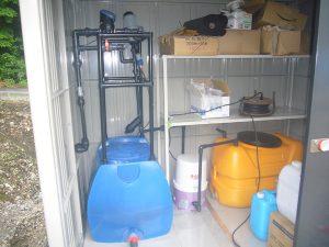 養液潅水装置の移設