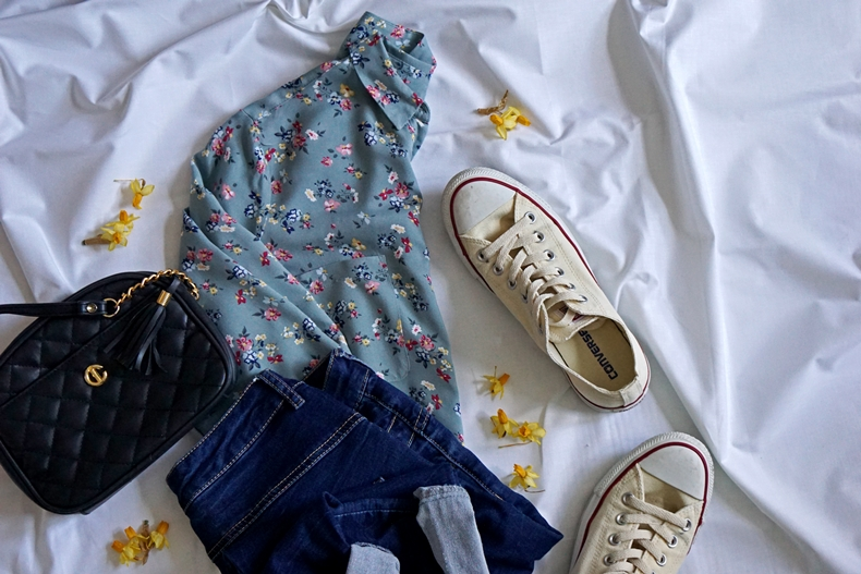 flower shirt outfit