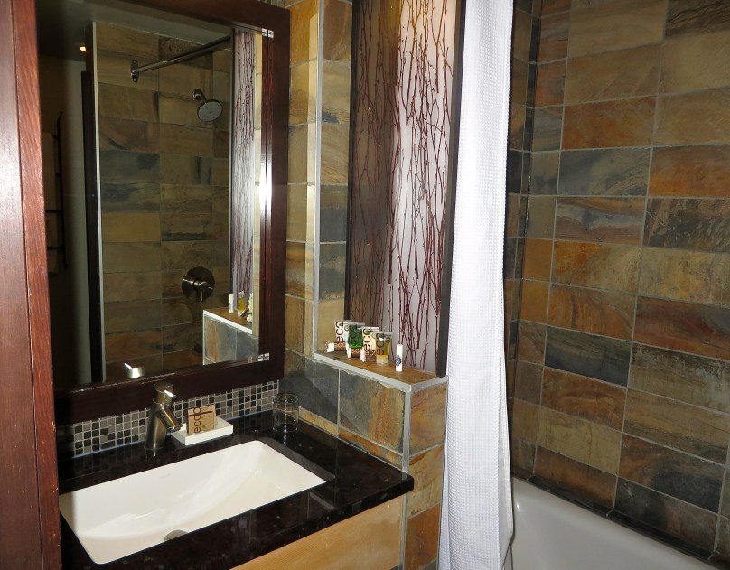 Bathroom at Sunshine Mountain Lodge