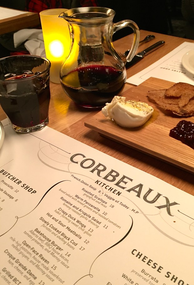 Dinner at Corbeaux