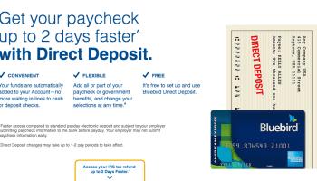 Bluebird Card Direct Deposit - American Express Bluebird Card Help