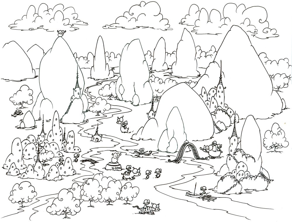 forest colouring pages