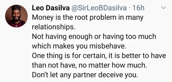 Leo DaSilva : Money is the Foundational Problem in Most Relationships.