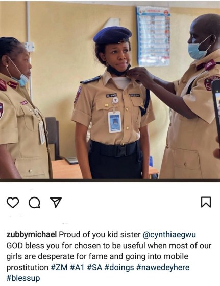 Zubby Michael Dragged on Social Media Over IG Post.