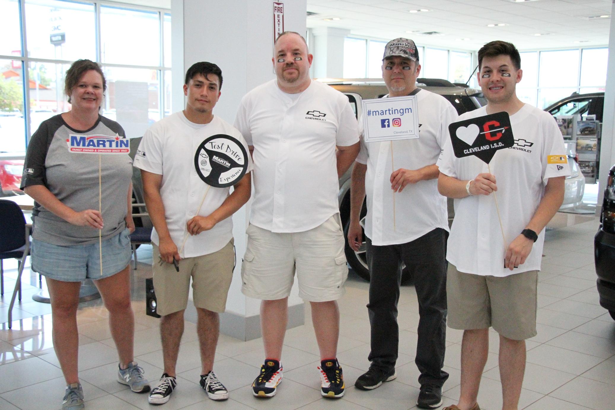 Martin Chevrolet Open House Nets 1 000 For Cleveland Isd Programs Bluebonnet News