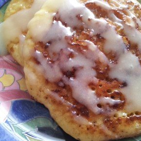 {not your ordinary breakfast} Cinnamon Roll Pancakes