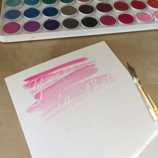 Watercolor Messages