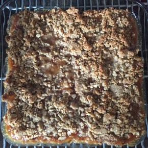 The many stages of Peach Crumble