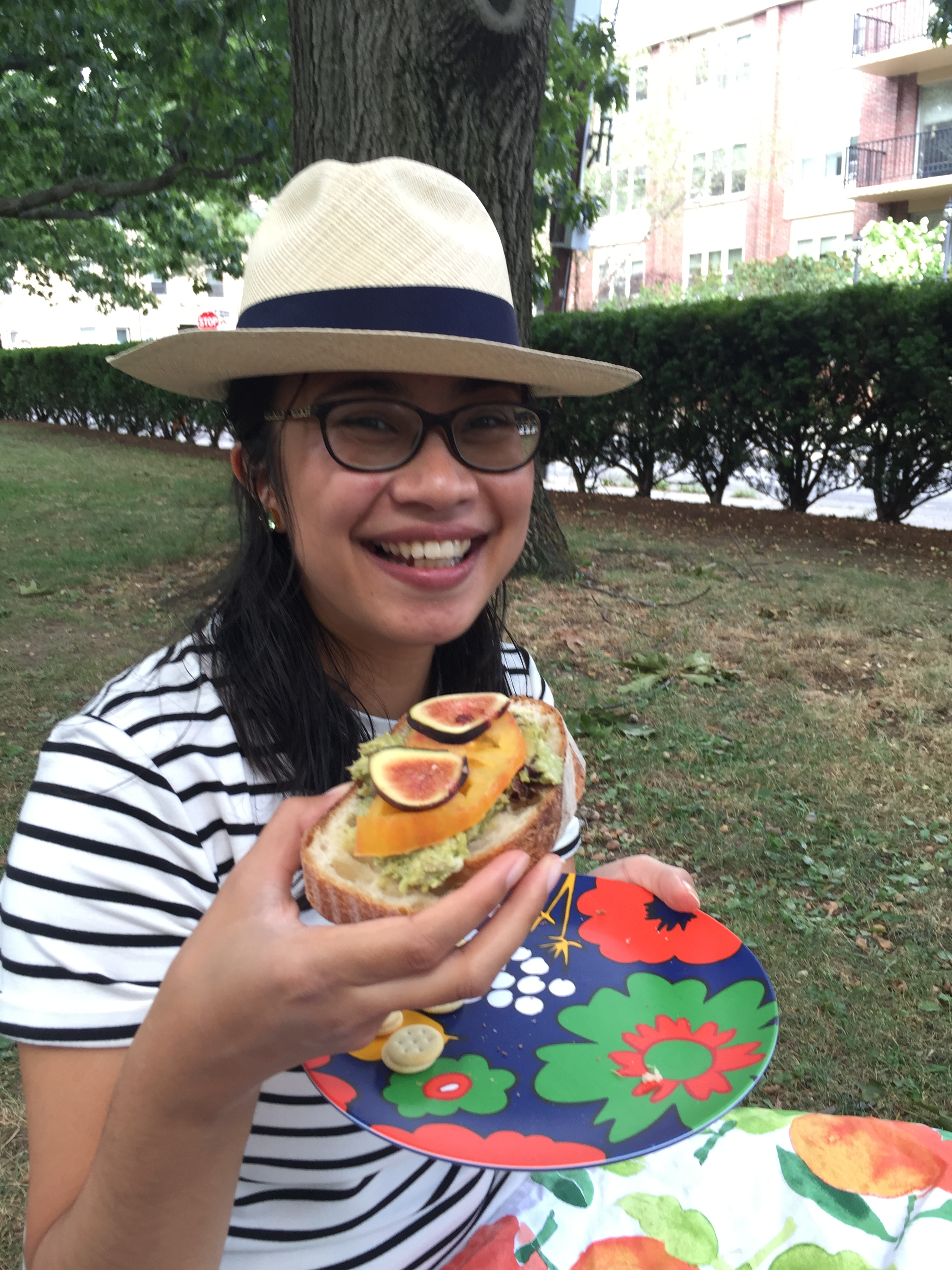 happy picnicker