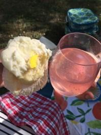 pink lemonade and cupcakes