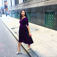 A vision in velvet - crafting the perfect custom dress with eShakti!
