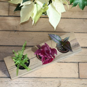 Looking for a unique, organic gift? Reclaimed Wood Planters & Candle Holders, crafted in NYC // with my bare hands
