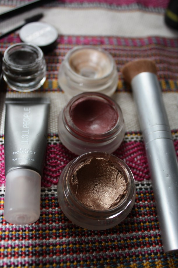 rms beauty solar eye polish, illusive lip2cheek, living luminizer