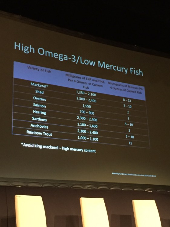 high omega 3 fish, low mercury fish
