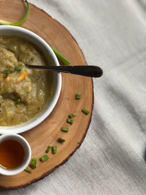 Vegetarian Loaded Baked Potato Soup Recipe - BlueBootsGo
