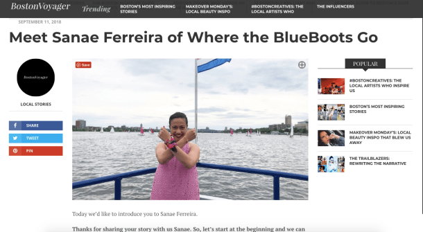 The Boston Voyager Magazine - Sanae Ferreira - Where the BlueBoots Go