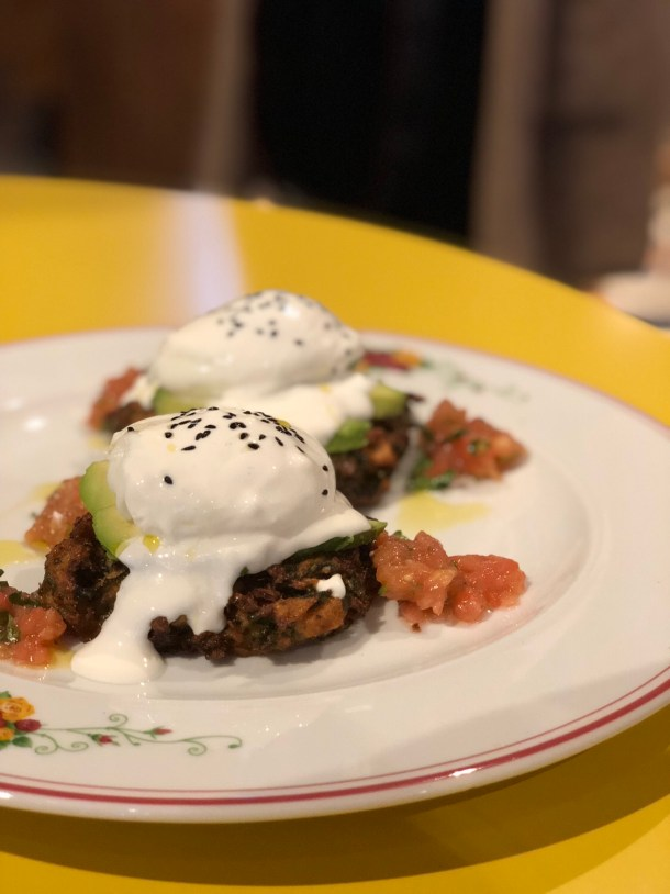 Latkis Benedict - Cafe Landwer - Where the BlueBoots Go
