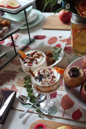 Spiced Apple Compote - Greek Yogurt Parfait - Where the BlueBoots Go